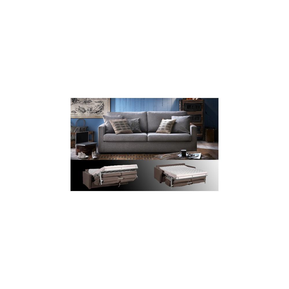 Canapé Osman 3 places 186 cm convertible Gd Confort HOME SPIRIT